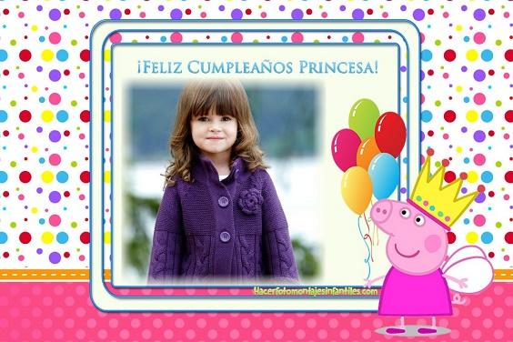 Fotomontajes de Cumpleaños infantiles | Fotomontajes