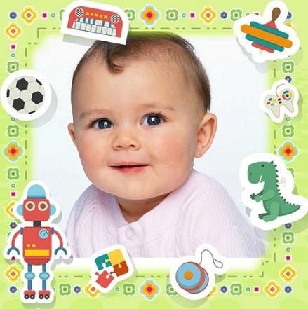Fotomontajes para bebes gratis - Marcos infantiles fotos de bebes