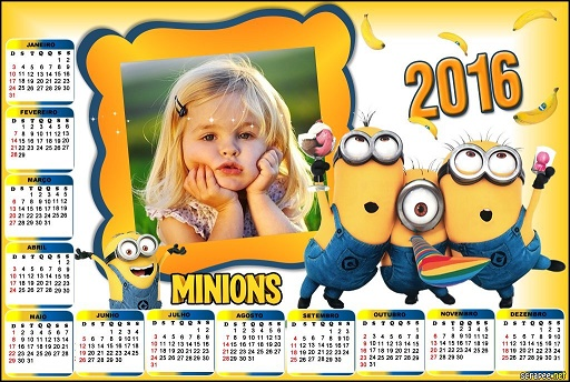 Calendario 2016 infantiles de los Minions