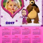 Fotomontaje de Calendario 2017 de Masha y El Oso
