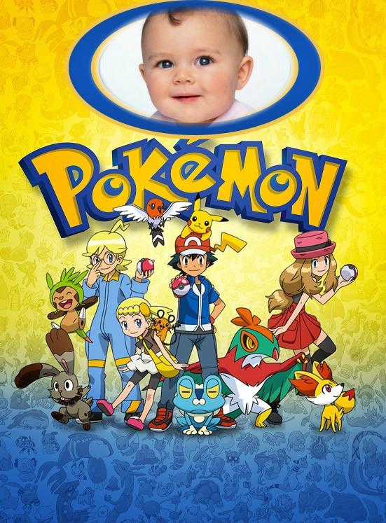 Marcos de Pokemon con foto - fotomontajes pokemon con foto - marcos infantil pokemon ahs pikachu fotomontajes