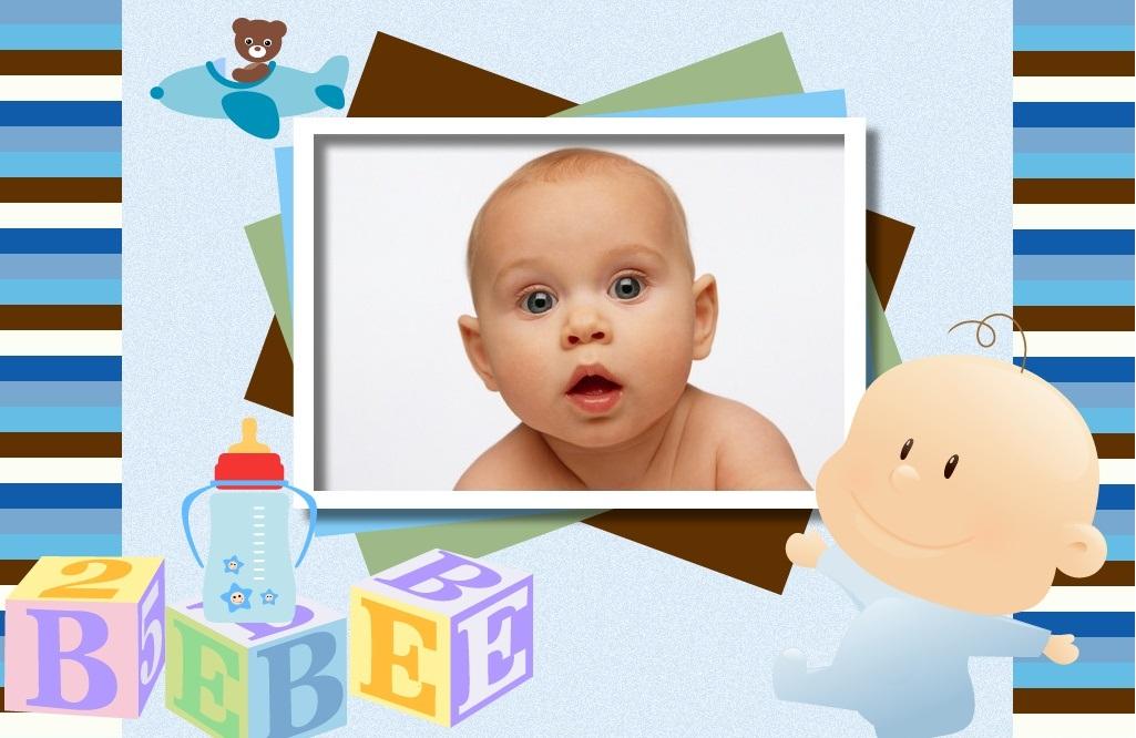 Fotomontaje para nacimiento de bebé | Fotomontajes infantiles