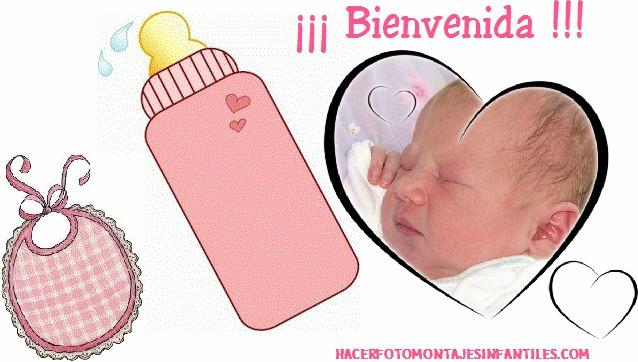 Fotomontaje nacimiento niñas
