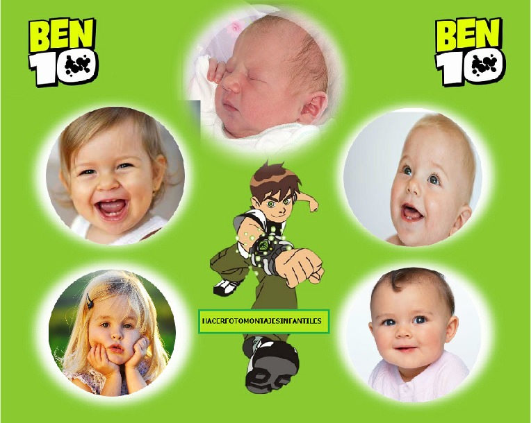 fotomotnaje infantil para varias fotos