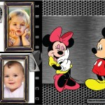 Fotomontaje de Mickey y Minnie para dos fotos