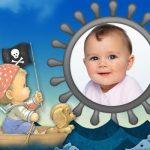 Fotomontaje de bebe pirata