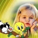 Fotomontaje de Silvestre y Piolin