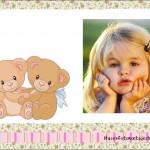 Fotomontaje infantil con dos ositos