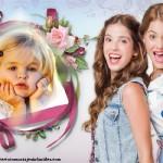 Fotomontaje de Violetta y sus amigas