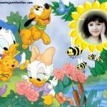 Fotomontaje de Donald, Daisy y Goofy bebés
