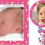 Fotomontaje para Primer Cumpleaños de Niña