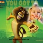 Fotomontaje de Alex el león de Madagascar