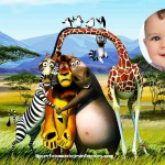 Fotomontaje con personajes de Madagascar