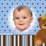 Fotomontaje para bebés con osito