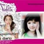 Fotomontaje del Diario de Violetta
