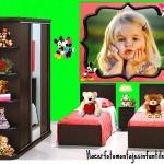 Fotomontaje de cuarto infantil