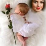 Fotomontaje de angelito bebé para crear gratis