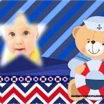 Fotomontaje de osito marinero para bebés