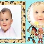 Fotomontaje de Jake y los Piratas para dos fotos