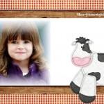 Fotomontaje infantil con vaquita