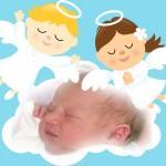 Fotomontaje con angelitos para fotos de bebés