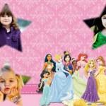 Fotomontaje de Princesas Disney para tres fotos