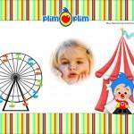 Fotomontaje de Payasito Plim Plim circo