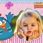 Fotomontaje infantil de Gallina Pintadita