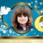 Fotomontaje con angelito bebé