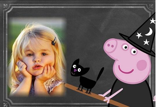 Marcos de Peppa Pig Halloween para editar foto