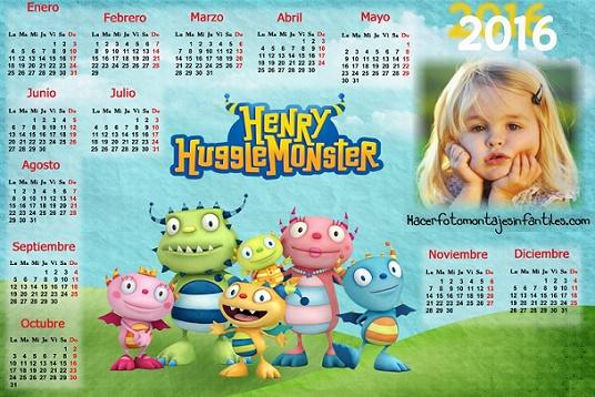Marcos de Calendario 2016 Henry Monstruito