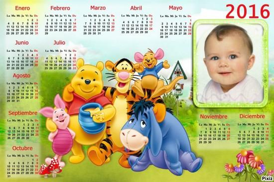 Calendarios con foto 2016 Hacer Fotomontajes Infantiles
