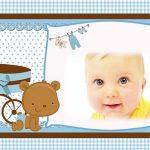 Fotomontaje para Baby Shower o Nacimiento niños