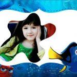Marco infantil de Buscando a Dory fotomontaje gratis