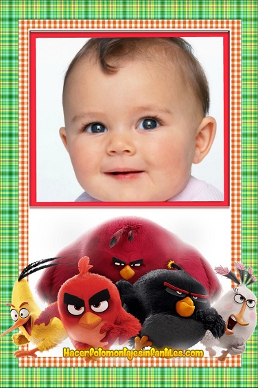 Fotomontajes Angry Birds 2 - Marcos infantiles Angry Birds- Editar fotos Angry Birds 2