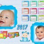 Fotomontaje de Calendario 2017 para bebés