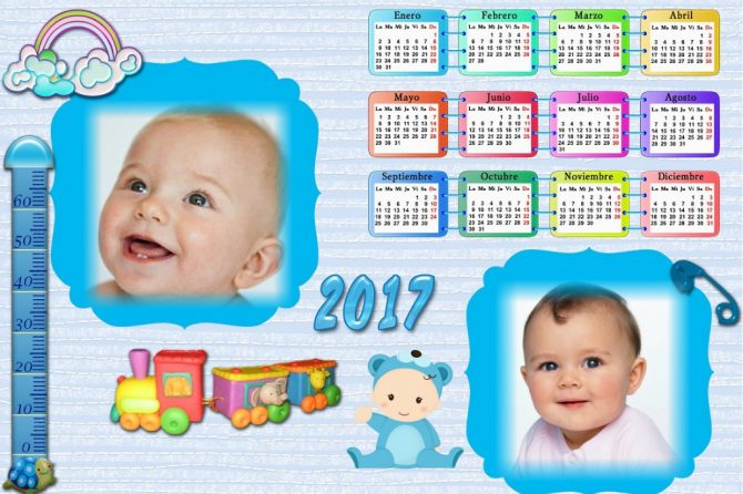 Fotomontajes de calendarios fotomontajes infantiles - Marcos fotos bebes ...