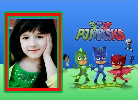 Fotomontajes Pj Masks - Pj Masks fondos - pj Masks marcos - heroes en pijamas fotomontajes - heroes en pijamas marcos infantiles