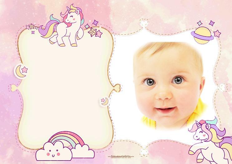 Fotomontajes para bebes - fotomontajes infantiles con unicornios.imagenes de unicornios - marcos con unicornios para fotos