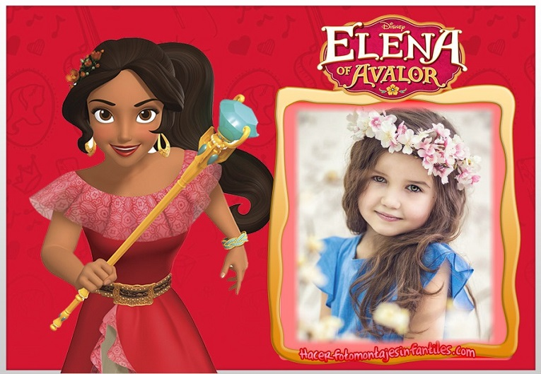 stickers elena de avalor con foto