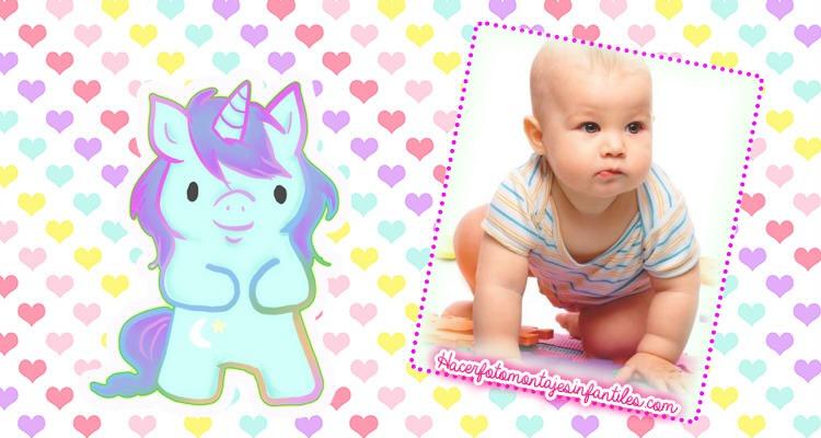unicorn marcos para fotos gratis - fotomontajes infantiles gratis